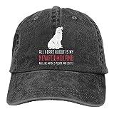 Gorra de béisbol unisex Newfoundland Vintage lavada de sarga ajustable Sombreros divertidos gráficos de humor de...