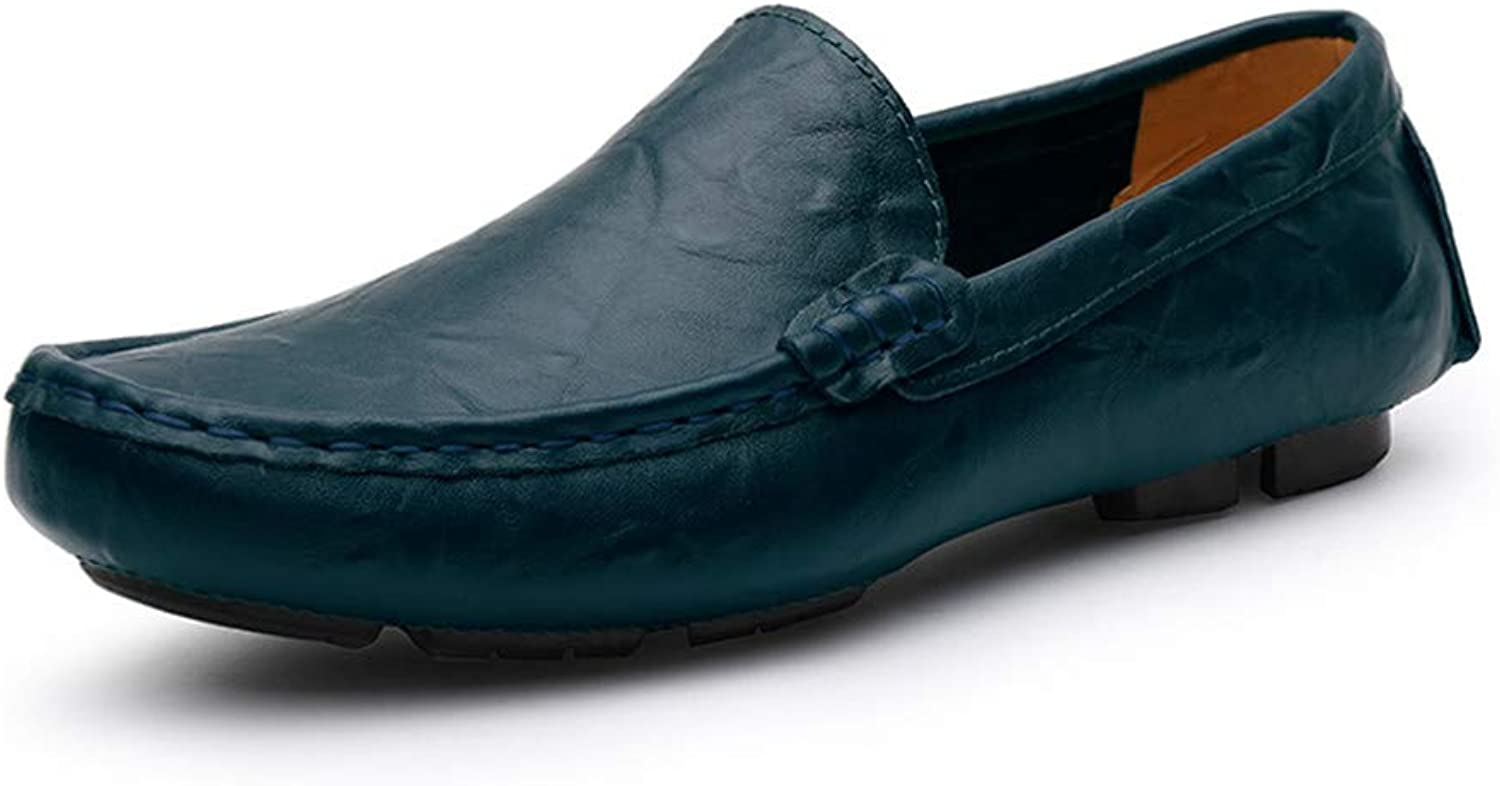 369e68e63c70c SRY-shoes Men's Personality Premium Genuine Leather Slip on Loafers ...