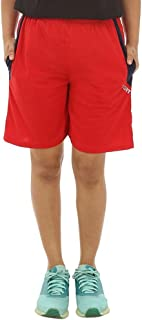 Teemoods Casual Red Womens Sports Shorts