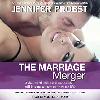 The Marriage Merger                   By:                                                                                                                                 Jennifer Probst                               Narrated by:                                                                                                                                 Madeleine Maby                      Length: 10 hrs and 40 mins     640 ratings     Overall 4.3