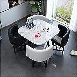 FWJT sala de conferencias recepción mesa mármol mesa y silla combinación sala de estar cocina mesa de comedor moderno diseño ocio mesa oficina salón hotel cafetería postre tienda biblioteca 1 mesa 4 s