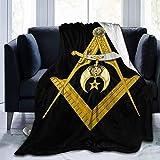 Compass Scimitar Shriners Symbol Throw Ultra Soft Velvet Lightweight Bed Blankets Quilt Durable Home Decor Fleece Sofa Blanket Luxurious Carpet for Men Women Kids 80x60 in