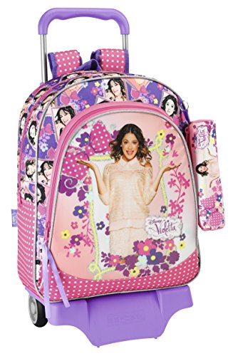 Trolley VIOLETTA FLOWERS grand sac à roulettes +...
