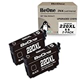 BeOne Remanufactured Ink Cartridge Replacement for Epson 220 XL 220XL T220 T220XL Black 2-Pack to Use with Workforce WF-2750 WF-2630 WF-2650 WF-2760 WF-2660 Expression XP-420 XP-320 XP-424 Printer