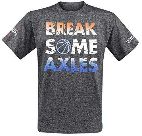 Rocket League Break Some Axles T-Shirt dunkelgrau meliert XL