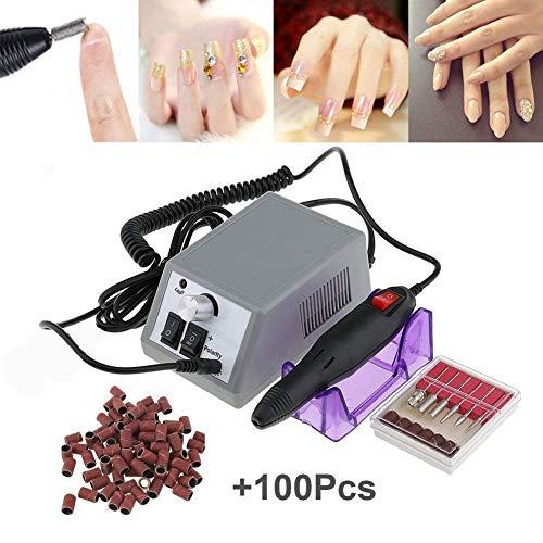 Elektrische Nagelfeile Elektrisch Nagelfräser Maniküre Set Plus 6BITs und Schleifhülsen mit geringem Rauschen und Vibration