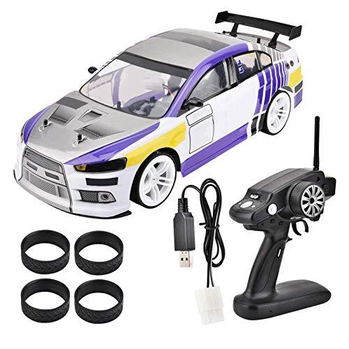 Jeankak Coche de Control Remoto, 1/10 Cuatro Ruedas Drive 4WD Modelo de Control Remoto RC Sport Racing Drift Car Juguete Remoto eléctrico para niños y niñas(#2)