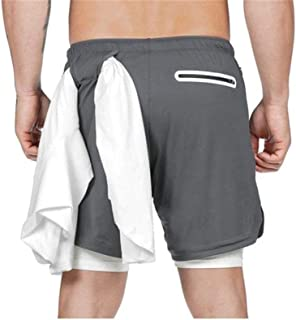 Swim set Mens Swimsuit Sexy Swimwear Men Swimming Shorts Surf Board Shorts Briefs Beach Shorts Sports Suits MJZCUICAN (Color : Silver, Size : XXL)
