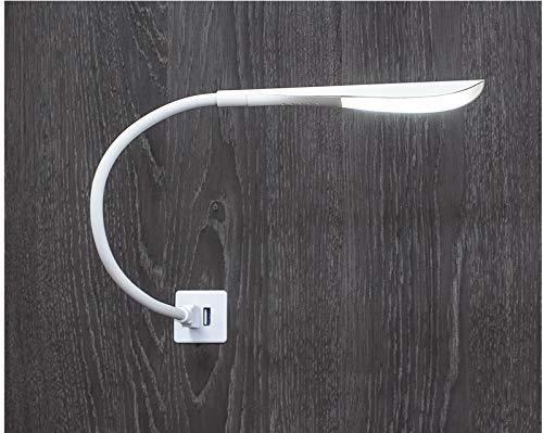 USB LED-lamp dimbaar leeslamp LILI met schakelaar zwanenhals zwart/wit met schakelaar ideaal voor computertoetsenbord PC laptop boek