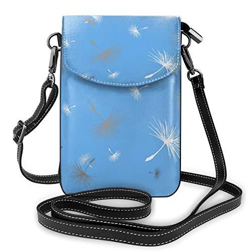 Generic Pusteblume Samen, nahtloses Muster, Vektorbild, kleine Umhängetasche, Handtasche – Frauen PU-Leder Handtasche mit verstellbarem Riemen für den Alltag