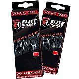 Elite Hockey Prolace Waxed Hockey Laces - Set of 2 Pairs (Black, 96')