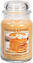 Village Candle Maple Butter 26 oz Glass Jar Scented Candle, Large