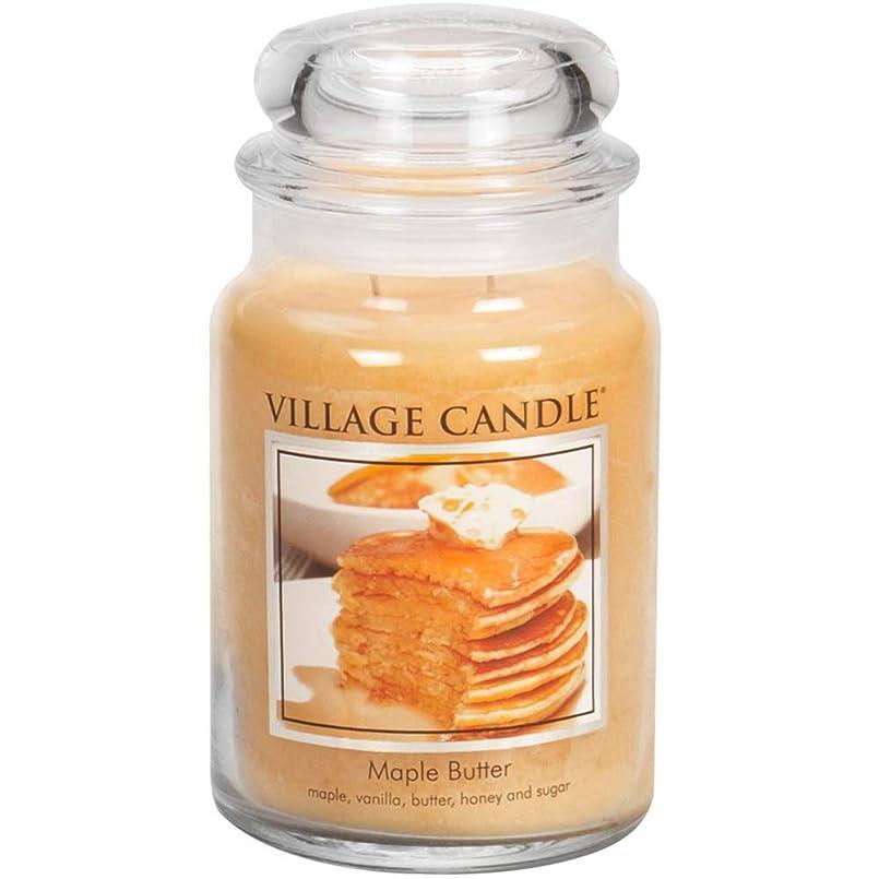 むちゃくちゃ体操周辺Village Candle Large Fragranced Candle Jar - 17cm x 10cm - 26oz (1219g)- Maple Butter - upto 170 hours burn time by Village Candle