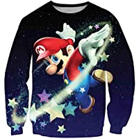 2T-16T Years Old Super Mario Bros Cartoon Hoodie Sweatshirt for Kids Boys Girls O-Neck Cosplay Tracksuit Children Pullover