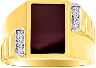 RYLOS Designer Onyx Ring With Diamonds and Genuine Black Onyx Set in 14K White Gold or 14K Yellow Gold