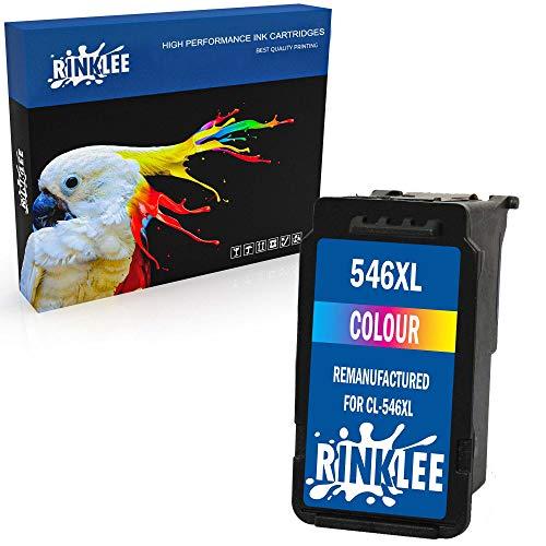 RINKLEE Remanufacturado para Canon CL-546XL Cartucho de Tinta Compatible con Canon Pixma MG2450 MG2550 MG2550S MG2555S MG2950 MG3050 MG3051 MG3052 MX495 iP2850 TS205 TS3150 TS3151 | Tricolor