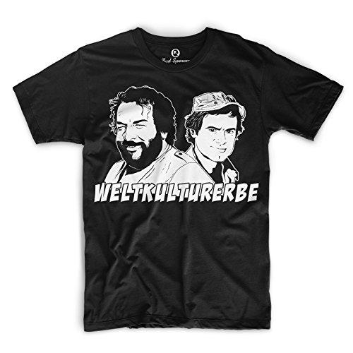 Bud Spencer® Herren Weltkulturerbe T-Shirt (schwarz) (S)