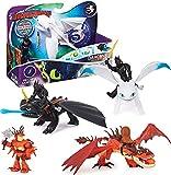 Dreamworks Dragons, Drago con Personaggio Vichingo con Armatura, per Bambini dai 4 Anni In Su (I Modelli Variano)