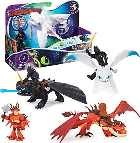 Spin Master - Dreamworks Dragons 3 - 6045112 - Jeu enfant - Figurine d'Action - Pack Dragon & Viking Dragons - Film Dragons 3 Le Monde Caché - Modèle aléatoire
