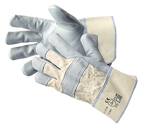 Jah Unisex Lederhandschuh Stulpe Einfach, Natur, Größe 10.5 EU (5 Paar)