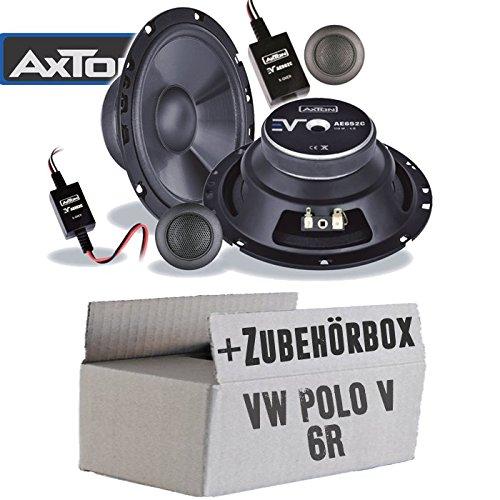Lautsprecher Boxen Axton AE652C | 16cm 2-Wege Auto Einbauzubehör - Einbauset für VW Polo 6R Front Heck - JUST SOUND best choice for caraudio