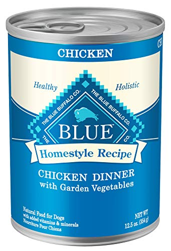 Blue Buffalo Homestyle Recipe Natural Adult Wet Dog Food, Chicken 12.5-oz can (Pack of 12)