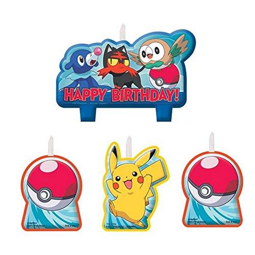 Pokemon Birthday Candle Set