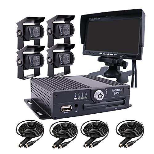 JOINLGO 4 Channel H.264 256GB SD 720P AHD HD Mobile Vehicle Car...