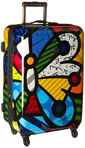 Heys America Britto 26-Inch Spinner Luggage (Butterfly)