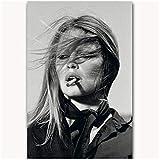 Brigitte Bardot Vintage Kate Moss personalizzato sexy ragazza fumatori parete decorazione della casa arte Poster-50x70cmx1pcs -Nessuna cornice
