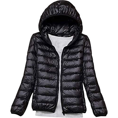 Damen Daunenjacke,super warme Longshirts Sportshirt Bequem Winterjacke Federn-Füllung Loose Jacke Freizeit Swearshirt klassisch moderner Wintermantel eicht