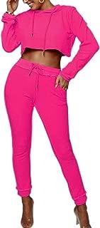 Womens Sexy Lightweight Tie Dye 2 Piece Sports Outfit Tracksuit Shirt Long Pants Jogger Set Clubwear