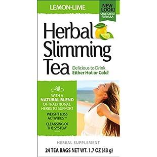 21st Century Health Care, Herbal Slimming Tea, Lemon-Lime, 24 Tea Bags, 1.6 oz (45 g):Interoot