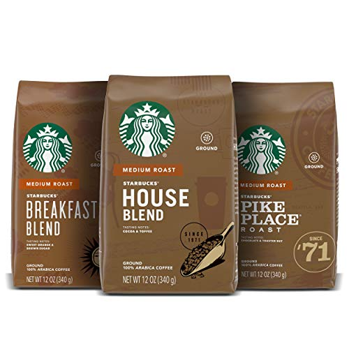 Starbucks Medium Roast Ground Coffee — Variety Pack — 100% Arabica — 3 bags (12 oz. each)