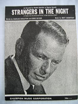 """Sheet music """"Strangers In The Night"""" Frank Sinatra cover Book"""