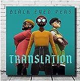 RZHSS Poster Black Eyed Peas - Übersetzung Cover Art Seide