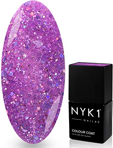 NYK1 NAILAC - DIAMOND LILAC - Professional Shellac Gel Nail Polish - UV & LED Drying - Quick Soak Off Gel Polish 10ml - Over 100 Shellac Colours to Choose From! by NYK1
