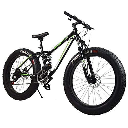 26 inch wielen mountainbike, 21 speed dikke band hardtail mountainbike, frame van koolstofstaal, dubbele schijfrem