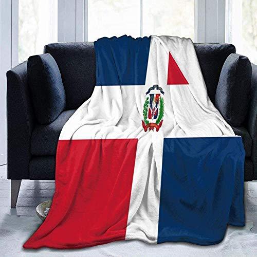 YuLiZP Decke Wohn Kuscheldecken,Fleece Decke Werfen Warme Decken Für Bett Couch Stuhl Wohnzimmer Ganzjahresdecke Für Bett Couch Sofa Flagge Der Dominikanischen Republik 80x60 inch