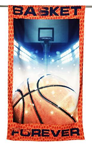 Tex family Toalla de playa de rizo de baloncesto Forever tamaño grande 90 x 170 cm