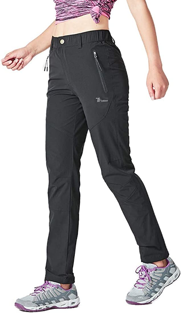 Rdruko Women's Outdoor Lightweight Quick Dry Sportswear Water Resistant Hiking Pants with Pockets: Clothing