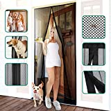 Homitt Magnetic Screen Door with Heavy Duty Mesh Curtain and Full Frame...