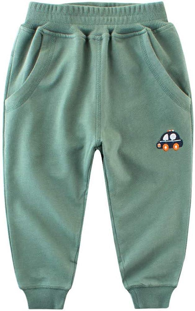 Mud Kingdom Little Boys Jogger Pants Cotton New product! New type Cartoon Green Luxury goods Si Car