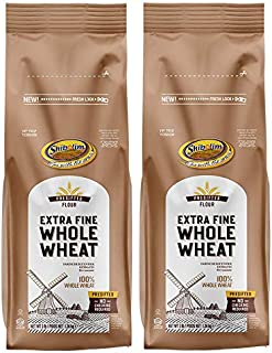 Shibolim, Extra Fine, Stone Ground Whole Wheat Flour, 48oz (2 Pack, Total 6 Pounds ) Resealable Bag, 100% Whole Grain, Pre...