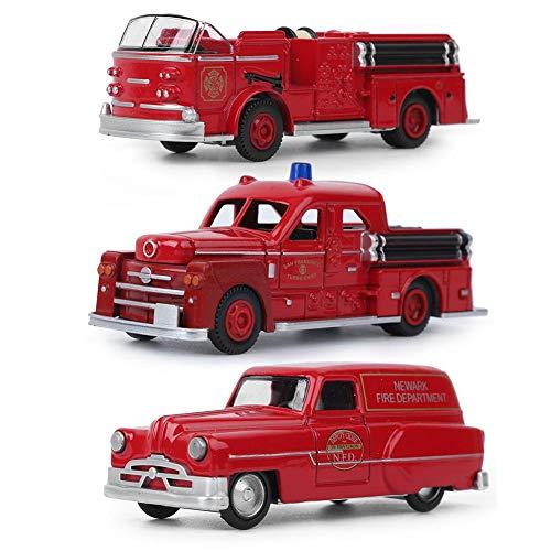 Juguete Modelo de camión de Bomberos,3 Piezas/Set Coches Modelo de camión de Bomberos, Estilo...