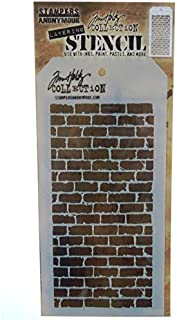 Stampers Anonymous Tim Holtz Layered Bricked Stencil, 4.125 x 8.5