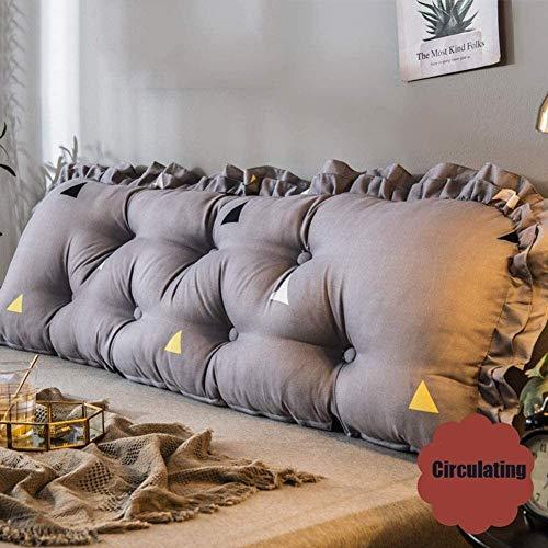 xjm Las Almohadas de cuña sofá Suave de Noche Triángulo Amortiguador Trasero Soporte Lumbar Almohadas decoración del hogar (Color : Gray, Size : 90X45CM)