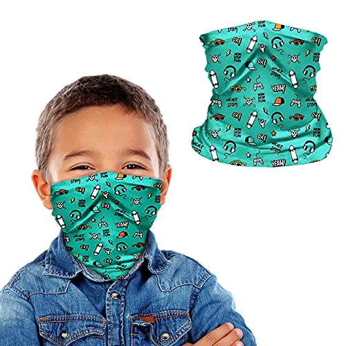 Kids Neck Gaiter Face Mask   Breathable Gaiters Face Cover Balaclava Summer Mask for Kids   Bandana Face Mask Boys Girls