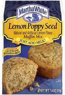 Martha White Muffin Mix Lemon Poppyseed 7.6 oz. (Pack of 6)