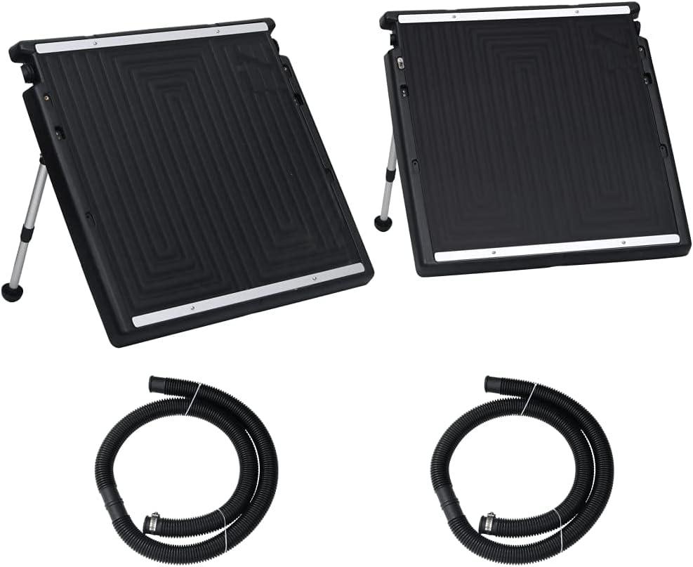 vidaXL Panel Calefactor Solar para Piscina Doble Sistema de Calefacción Calentador Agua Caliente Sol de Energía Ecológica Ángulo Ajustable 150x75 cm